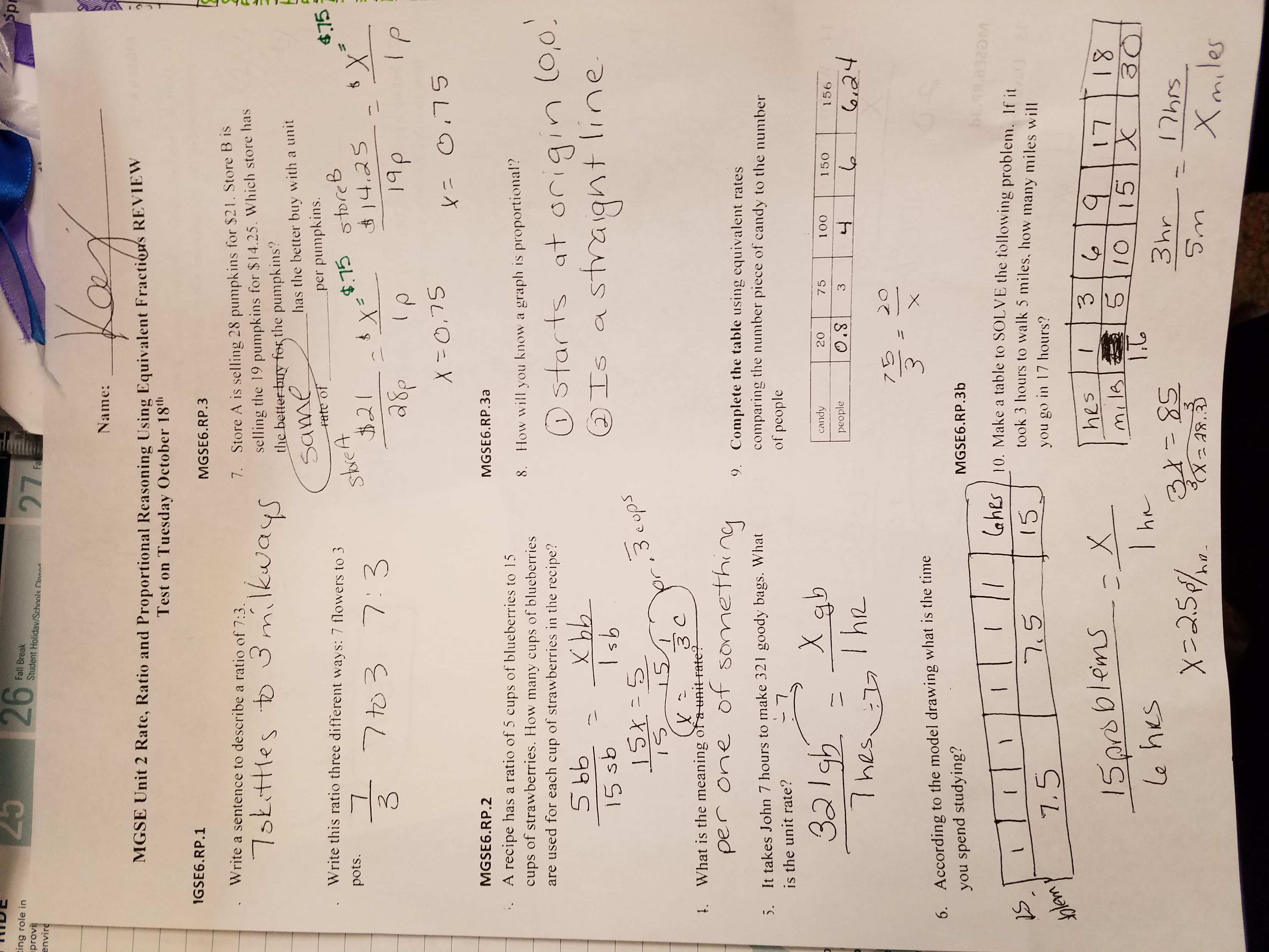 Kremkau, Sarah - Math / 6th Grade Mathematics