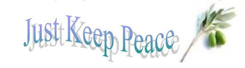just keep peace logo
