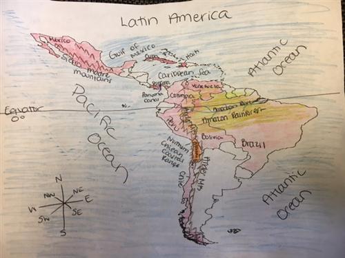 Latin America Map Song.Mulligan Heather Class Homepage