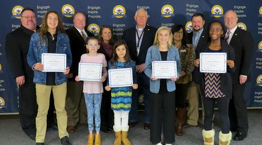 School Board Recognitions Nov. 12, 2019