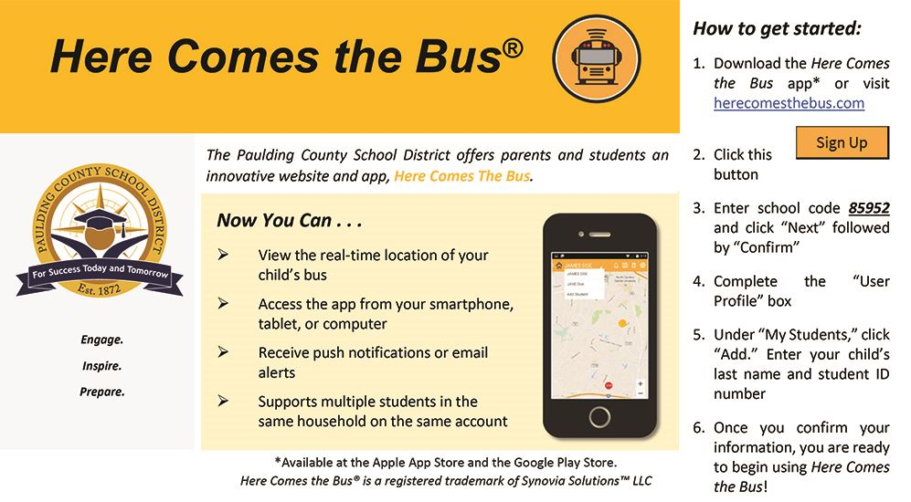 Download the Here Comes The Bus App