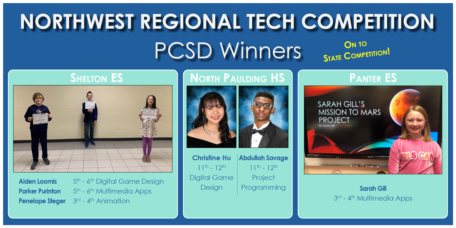 Northwest Regional Tech Competition Winners!