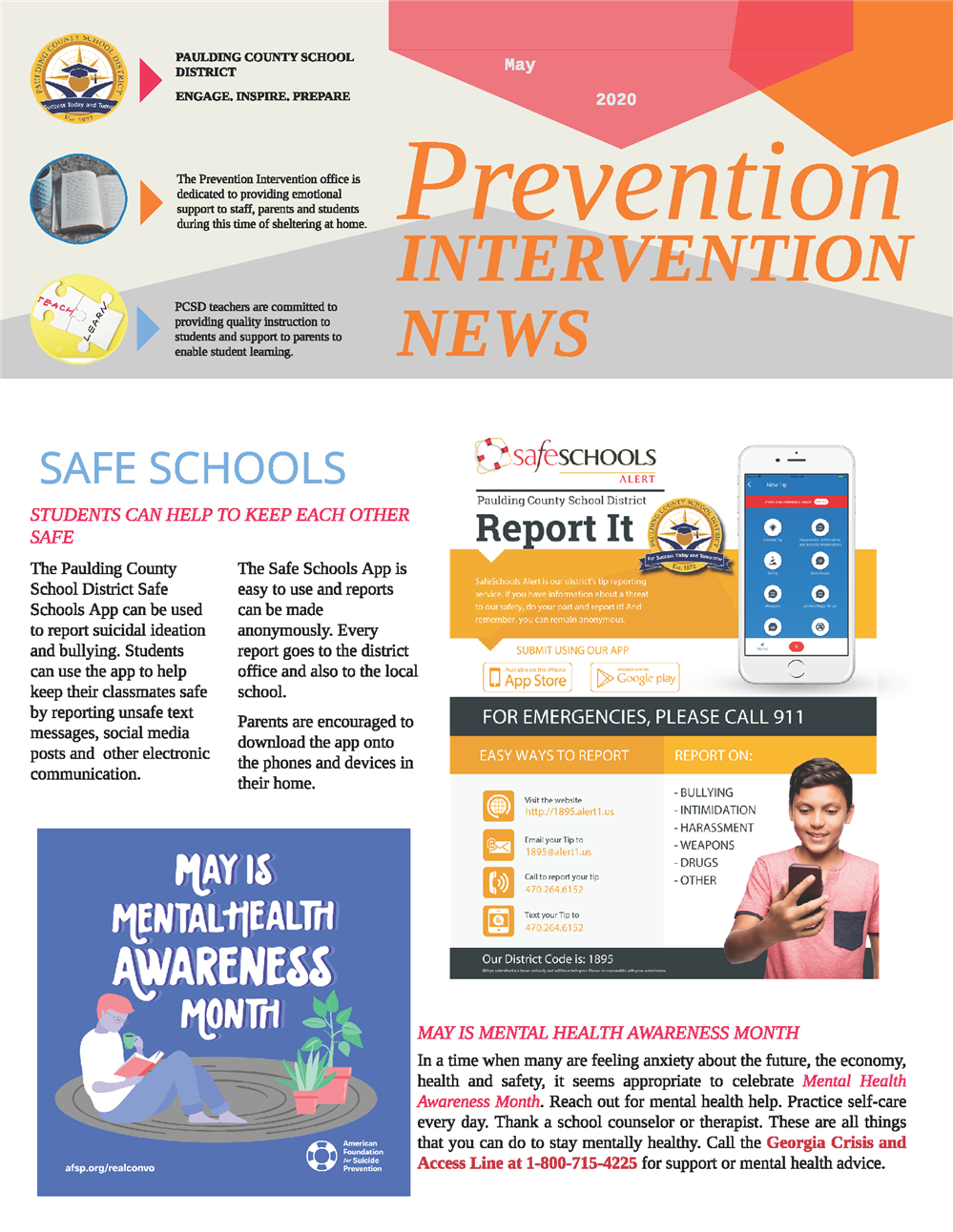 May 2020 Prevention Intervention Newsletter