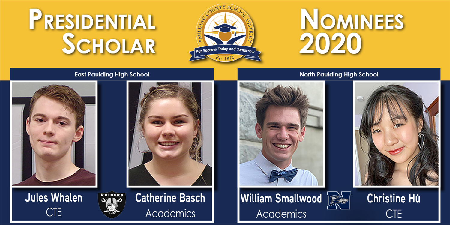 Four PCSD Students Nominated as Presidential Scholars