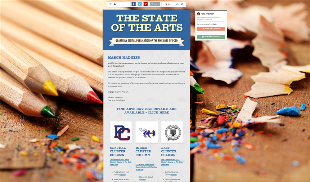 State of the Arts Newsletter - Winter Edition