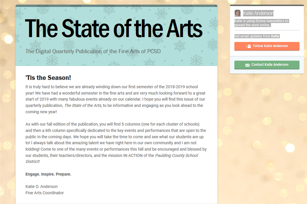 State of Arts Newsletter