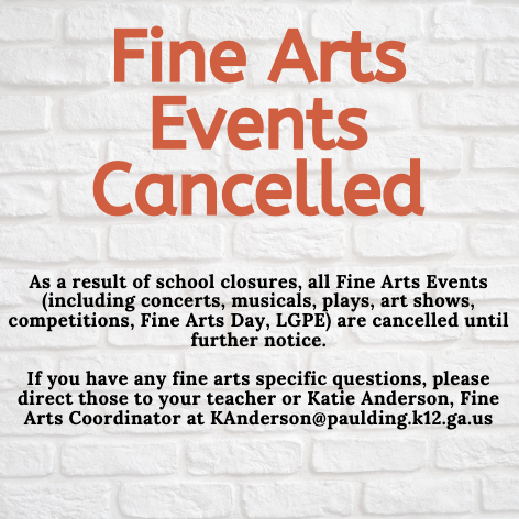 Fine Arts Cancelled